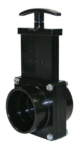 Valterra 7201 ABS Gate Valve, Black, 2