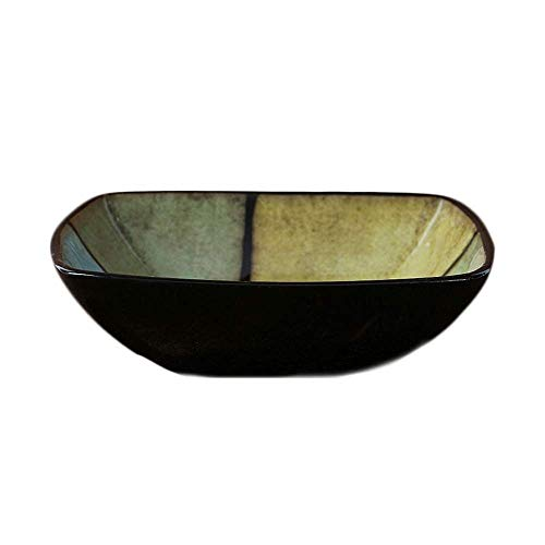 Xiao-bowl3 Japanese Style Creative Ceramic Puddings Desserts Soup Rice Bowl Household Fruit Salad Tableware Palace Spaghetti Lunch Bowl (Color : Brown)