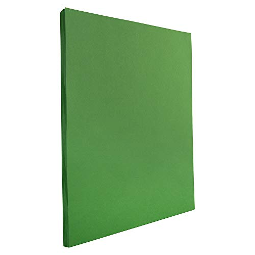 JAM PAPER Colored 24lb Paper - 8.5 x 11 Letter - Green Recycled - 50 ()