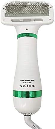 Dheera Secador portátil 2 em 1, secador de cabelo para cães e escova de pente, pente para pelos de gatos e gat