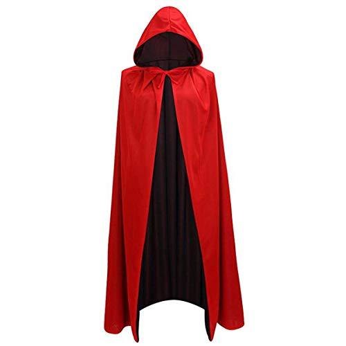 LIYZU Cloak Halloween Party Easter Christmas Cosplay Black Red Reversible 59