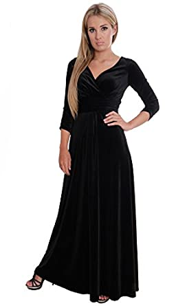 Elegant Black Evening Party Theatre Concert Dress Empire Style by ...