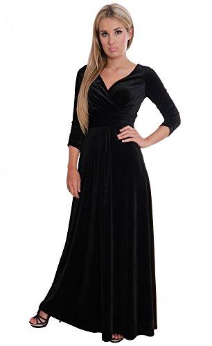 Elegant Black Evening Party Theatre Concert Dress Empire Style by MontyQ