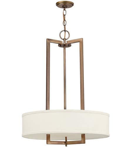 Pendants 3 Light Fixtures With Brushed Bronze Finish Metal