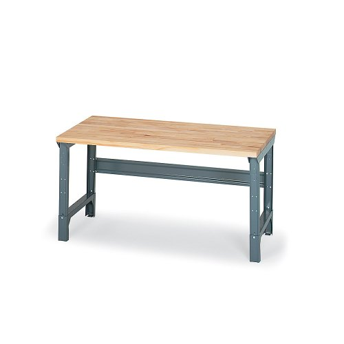 """RELIUS SOLUTIONS 1-1/2"""" Thick Butcher Block Maple Top Workbench - 72x30"""" Top - Square Edge - Fixed"""