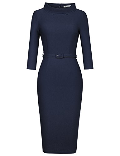 ladies 3/4 sleeve evening dresses - 6