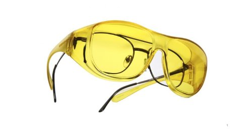 Lightguard Low Vision OveRx Sunglasses - Lemon Lens Size: Large, Fits over Prescription - Sunglasses Lightguard