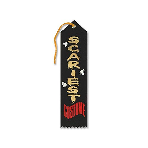 Bargain World Scariest Costume Halloween Ribbon (with Sticky Notes)