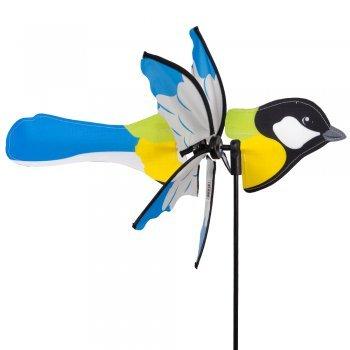 CIM Girandola - Petite 2 in 1 KOHLMEISE - Ø 31 x 41 cm, altezza 90 cm - incl. asta in fibra di vetro e gancio con corda in nylon