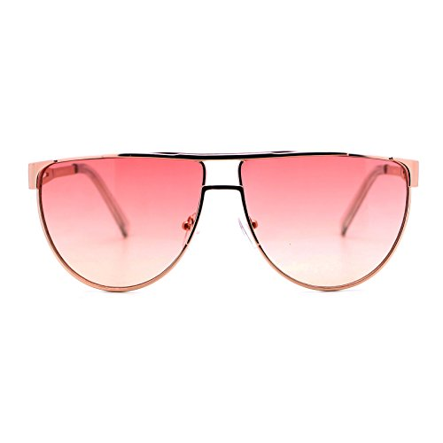 Unisex Fashion Sunglasses Trendy Flat Top Flat Frame Gold, Red Pink Gradient - Lens Frame Pink Red Gradient