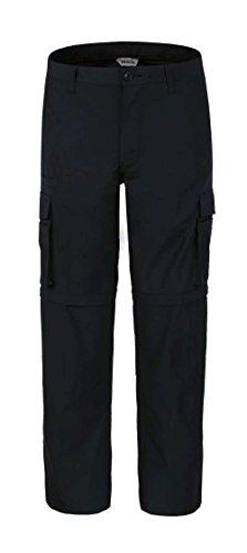 Bienzoe Men's Outdoor Quick Dry Waterproof Convertible Cargo Pants,Black 3232 -