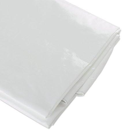 USA 96082 Heavy-Duty Tarpaulin ATE Pro 10 by 20-Feet White