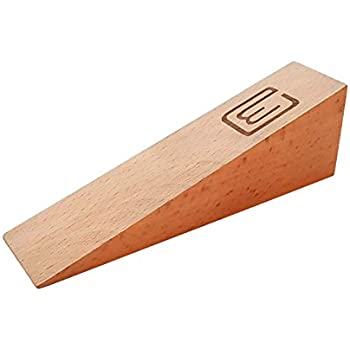 Beau Durable Heavy Duty Door Stopper 4.5 Ounces Gaps Up To 2 Inches, Decorative  Large Size Made Of Planed Finished Beech Wood, Works On All Surfaces  Perfectly, ...