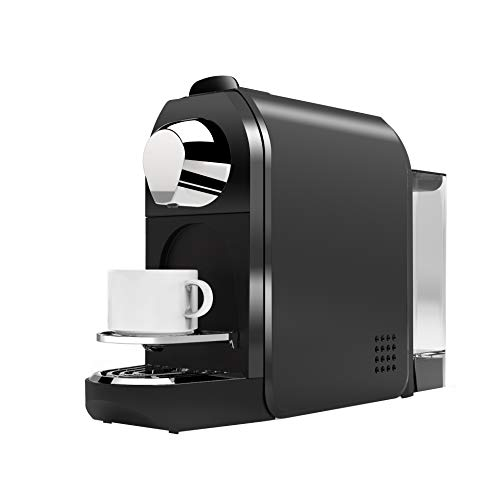 Grenp Coffee Maker, Single Serve Coffee Machine,Rapid Brew Auto-shutoff Self-Cleaning 2 Brew Size Capsules Coffee Machine with Removable Water Tank (Black)