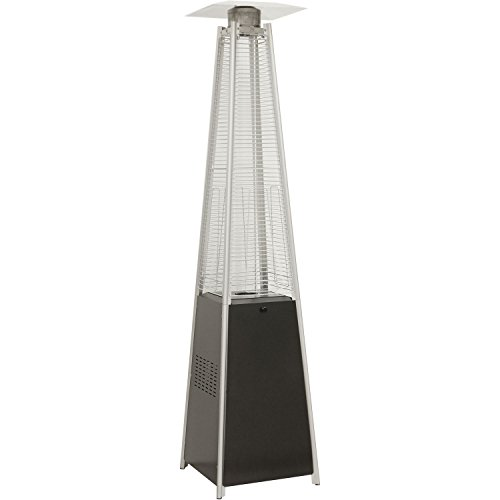 Hanover 42000 BTU Pyramid Propane Patio Heater 7 Feet Black (Large Image)