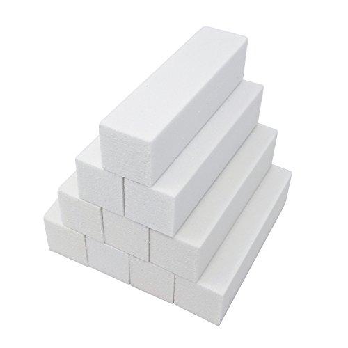 Honbay 10PCS White Nail Buffer Sanding Block Files Nail Art Tips Tool
