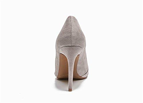 Robe Cour CLOVER Talons Pompes Femmes A Blink Hauts Satin Mariage De Party Sandales EU40 Bureau Sandales en Mariée Gray Dating Chaussures Escarpins LUCKY SxwnpZdx