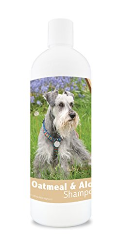 Healthy Breeds Dog Oatmeal Shampoo with Aloe for Miniature Schnauzer - Over 75 Breeds - 16 oz - Mild and Gentle for Itchy, Scaling, Sensitive Skin - Hypoallergenic Formula and pH Balanced