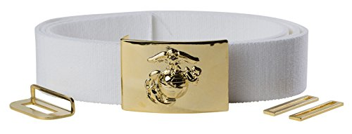 Marine Corps Belt - USMC White Belt with NCO Gold Buckle