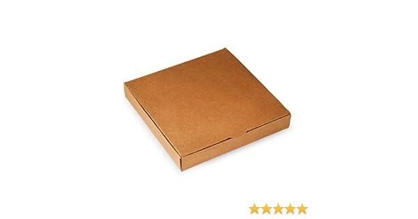 Selfpackaging Caja Plana para Invitaciones o Regalos en catulina Kraft. Pack de 50 Unidades - M