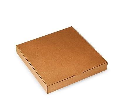 Selfpackaging Caja Plana para Invitaciones o Regalos en catulina Kraft. Pack de 50 Unidades -