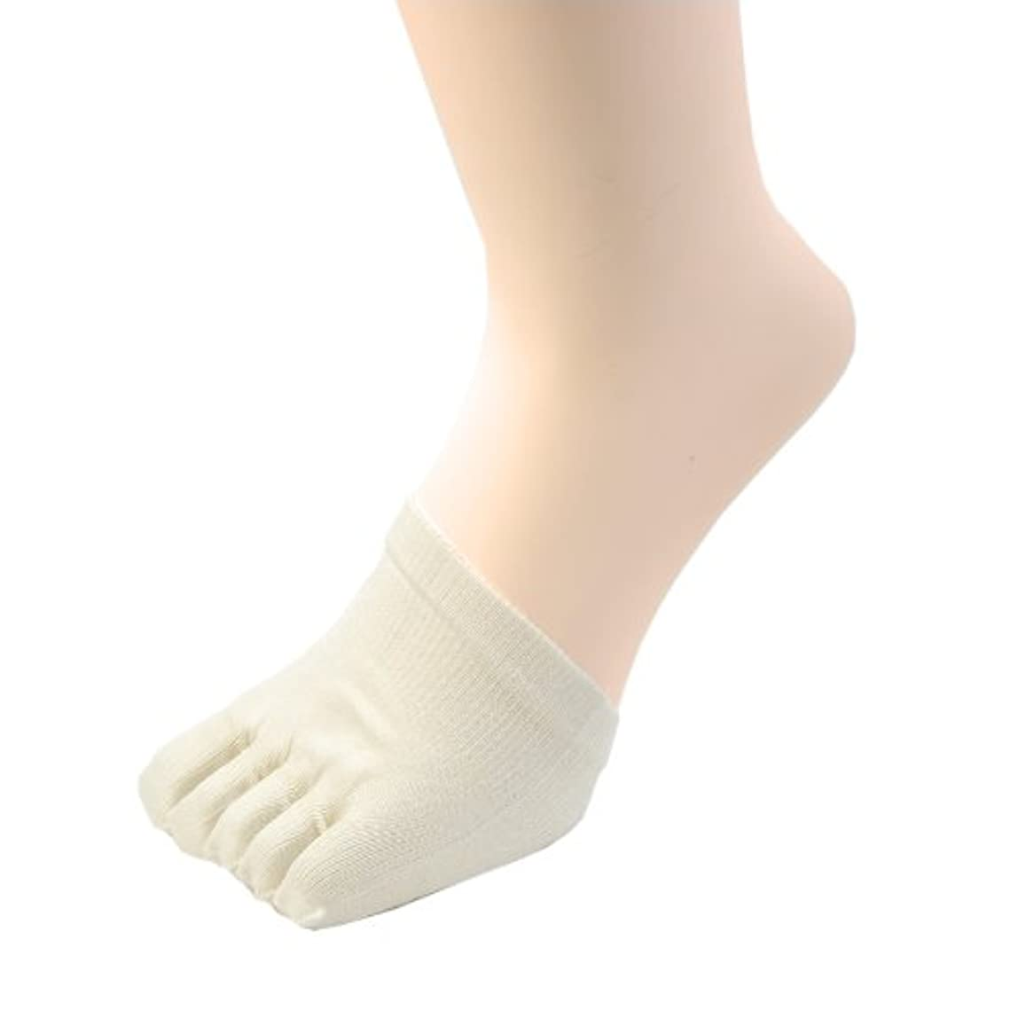 リビングルーム異議サイト冷えとり 絹 ( シルク )100% ハーフ 5本指 下履き (クツしたイン) ソックス 着圧健康ソックスの必需品! 2足組 #685