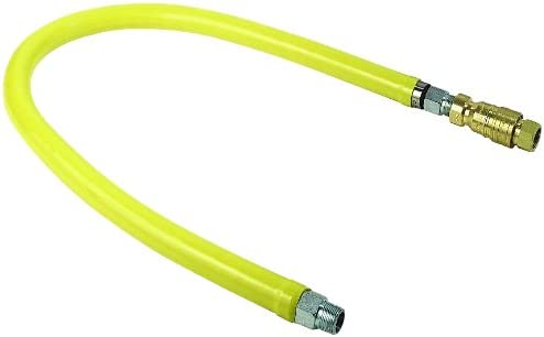 T/&S Brass HG-4D-48SEL Gas Hose with Quick Disconnect 48-Inch Long and Swivelink Fittings 3//4-Inch Npt