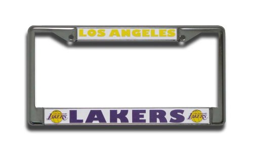 lakers license plate frame chrome - 3