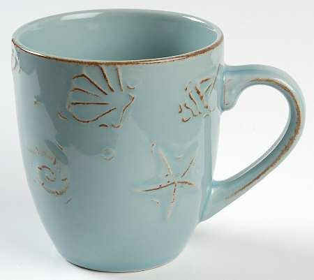 Thomson Pottery Cape Cod Coffee Mugs Aqua Blue, Set of 4 - Open Stock (Cape Thomson)
