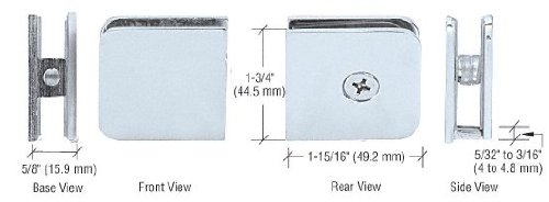 Clamps Panel Glass (CRL Chrome Traditional Oversized Fixed Panel U-Clamp)