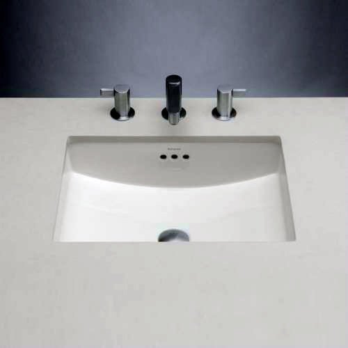 - Rectangle Ceramic Undermount Bathroom Sink with Overflow Sink Finish: White by Ronbow