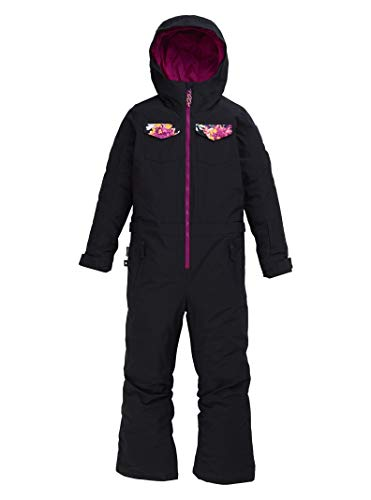 Burton Kids & Baby Game Piece One Piece, True Black/Secret Garden, X-Large
