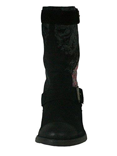 DESIGUAL Femme Designer Chaussures Biker Boots - COMBAT -