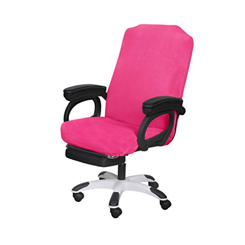 SARAFLORA Office Chair Covers Stretch Washable Computer Chair Slipcovers for Universal Rotating Boss Chair Medium Size Dark Pink