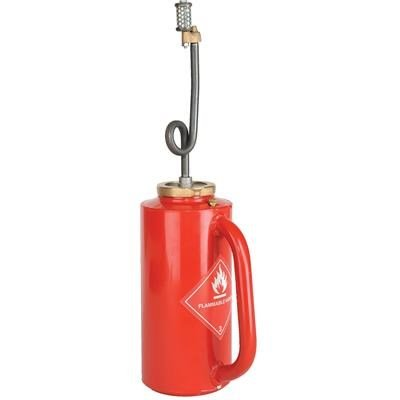 Ben Meadows Professional Red D.O.T. Drip Torch Ideal for Brush Disposal, Roadside Burning, Agricultural Clearing and Back Firing – Double Flashback Protection, 1-1/4-gal. Capacity, 6-1/4'' dia x 25''H