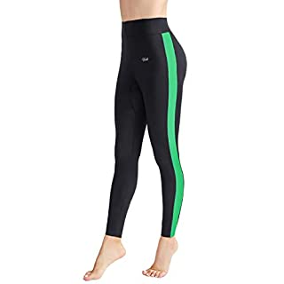 Hevto Magic Weight Loss Women Neoprene Pants 1.3mm High Waist Plus Size Sauna Sweat Slimming Tummy Control Legging (Magic Green, XXL)