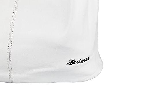 Bolsos blanco Para Medidas De 20x14x31 Negro Mujer Hombro Zerimar Piel Cm Reversible Grandes Color Mano Bolso Mujer A0nqSRx