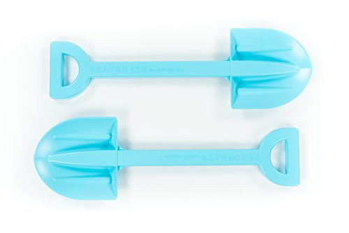 Beachmate Kids' Beach Shovel - Heavy-Duty Blue Plastic Shovel for Digging in Sand or Snow, Playing in Sandbox, Gardening, etc. ()