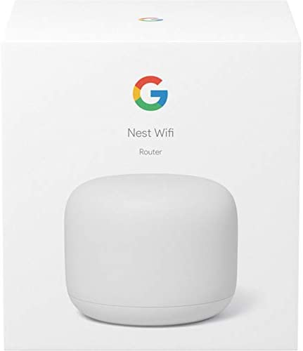 Google Nest Wi-Fi Router - 1-Pack (GA00595-US) with 2-Pack WiFi Smart Plug & Ethernet Cable