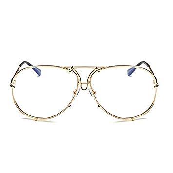 d982082398 Horrenz Mujeres hombres de gran tama?o gafas de sol del dise?o de marca  Superstar Mujer Hombre espejo del sol Gafas de sol Kim Kardashian [Tipo 2]:  ...