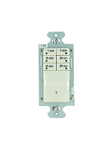 Legrand - Pass & Seymour 7- Button Digital Timer Switch 120VAC 1/6 HP Easy Installation, White from Pass & Seymour