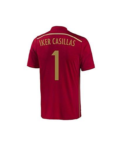 練習近所のアレンジAdidas Casillas #1 Spain Home Jersey World Cup 2014/サッカーユニフォーム スペイン ホーム用 ワールドカップ2014 背番号1 カシージャス