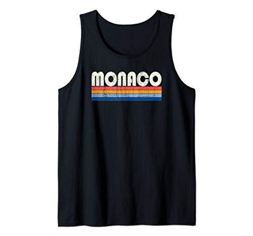 Vintage 70s 80s Style Monaco Tank Top ()