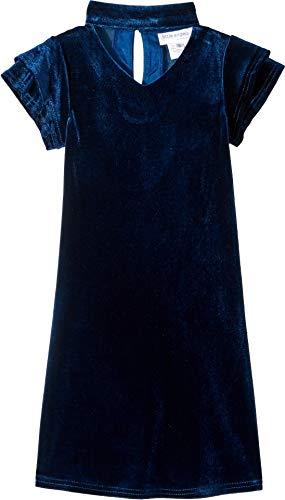 US Angels Girl's Gigi Velvet Dress (Little Kids) Teal 6 ()