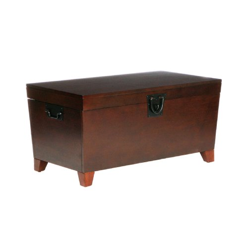 Pyramid Trunk Cocktail Table - Espresso (Coffee Tables Storage compare prices)