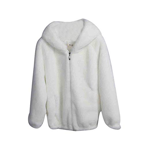 Womens Fluffy Fleece Fur Sweatshirt, Sunyastor Sherpa Winter Coat Warm Oversize Pullover Fashion Outerwear