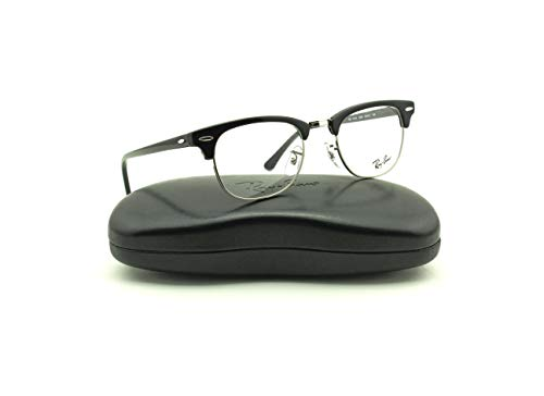 Ray-Ban RX5154 2000 Clubmaster Unisex Eyeglasses Shiny Black Frame 49mm (Eyeglasses Clubmaster Ray Ban Prescription)
