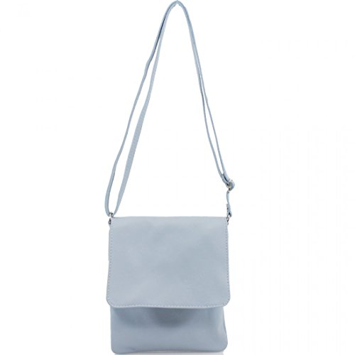 Italian Cross Bags Girls Soft Women Blue Vera Shoulder Small Pele Galaxy Ladies Pale Body Linen Bags Leather xq604Xw
