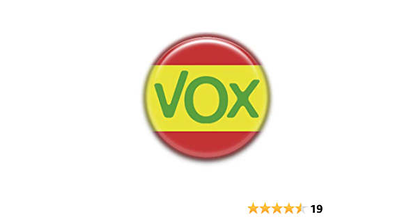 VOX Esp : Partidos Politicos, Pinback Button Badge 1.50 Inch (38mm): Amazon.es: Oficina y papelería