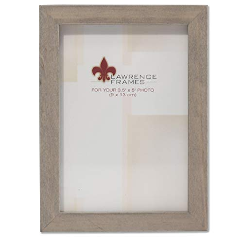 Lawrence Frames 3.5x5 Gray Wood Gallery Collection Picture Frame, - 3x5 Wood Frame